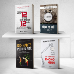 Combo 4 cuốn sách bí kíp phát triển kỹ năng mềm - kỹ năng của sự thành công
